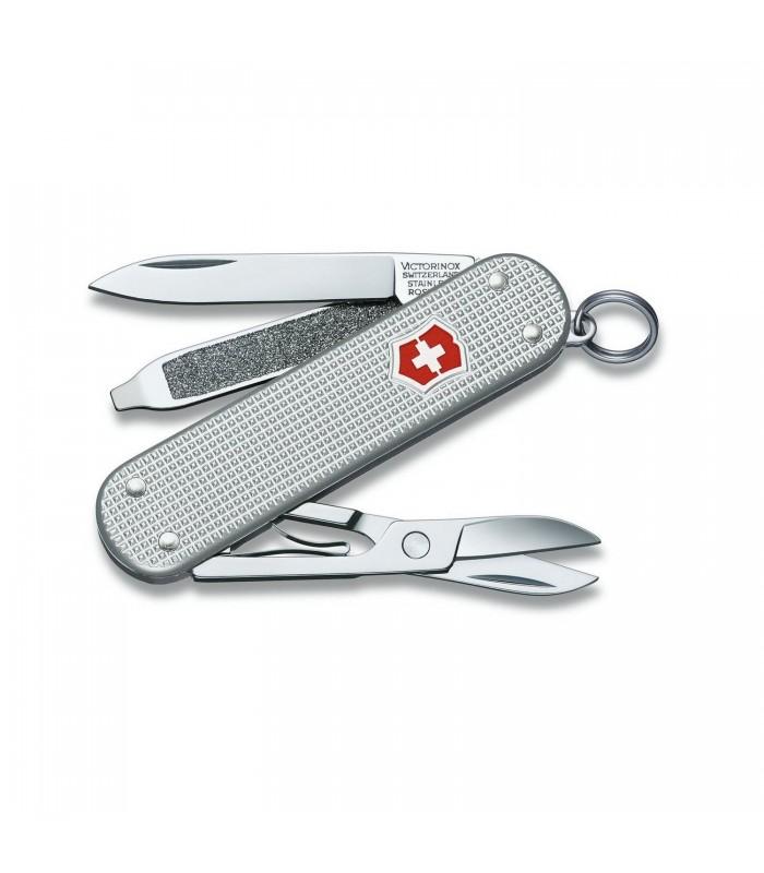 Victorinox 0.6221.26 Couteau Classic alox silver 5,8 cm Alox quadrillé Argent