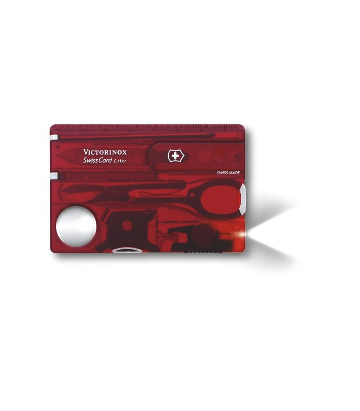 Victorinox 0.7300.t Swisscard 0 cm Bakélite Rouge translucide