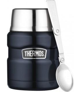 Thermos 123188 Porte-aliments isotherme THERMOS « KING » 0,47 l bleu marine, à double paroi
