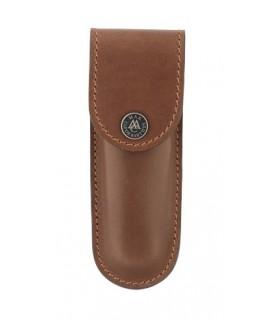 Max Capdebarthes 13812 Etui « S100 », cuir « Pérou », port horizontal/vertical pour couteaux de 11/12 cm de manche.
