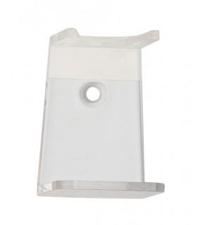Générique 1701 Support Blaireau avec adhésif de fixation, acrylique transparent. Adapté aux blaireaux d'un diam. max : de 27 mm