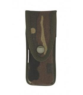 Pielcu 6331 Etui toile camouflée, réglable (double pression) pour couteaux de 12/13 cm de manche.