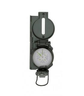 Herbertz 701500 Boussole HERBERTZ, modèle « RANGER », boîtier métal gris/vert, sur liquide d'amortissement, avec viseur.