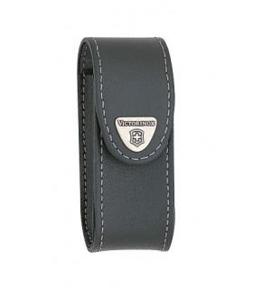 Victorinox 4.0521.31 Étui cuir noir avec clip pivotant pour couteaux 91 mm de 15 à 23 pièces.