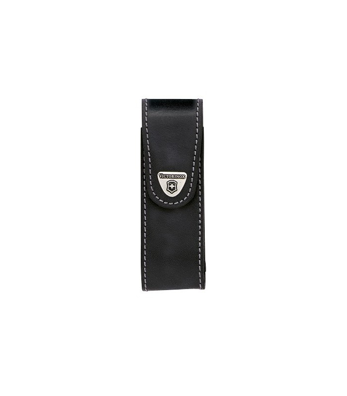 Victorinox 4.0523.31 Étui cuir noir avec clip pivotant pour SWISSTOOL ou pour couteaux à cran 111 mm jusqu'à 10 pièces.
