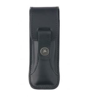 Max Capdebarthes 47313 Etui « RANDONNEUR PRESTIGE », cuir noir, port horiz/verti couteaux forts de 12/13 cm de manche