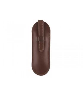 Pochette cuir « Pérou » avec patte pour couteaux 11/12 cm