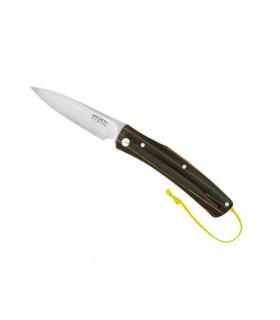 Mcusta mc.192c Couteau 11 cm Bois Stamina noir et rainures jaunes