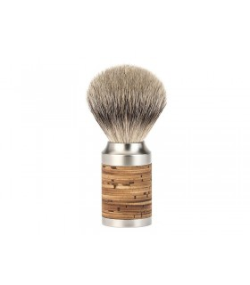 Mühle 091m95 Blaireau 0 cm pur argenté (silvertip badger monture écorce de bouleau