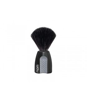 Nom erik21bl Blaireau « ERIK », fibre synthétique noire, monture plastique noir avec grip.