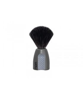 Nom erik21gr Blaireau « ERIK », fibre synthétique noire, monture plastique gris avec grip.