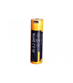 Fenix 14500.usb Accu rechargeable 1,5V, 1600 mAh, rechargeable par port micro USB. Remplace une pile AA.