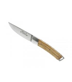 Fontenille Pataud 1796.10 Couteau, lame mate à cran, acier 14C28N, manche 10 cm bois olivier