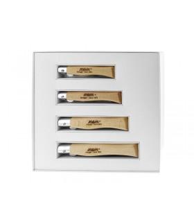 Mam 2505.10 Coffret 4 Couteaux 9 cm bois hêtre
