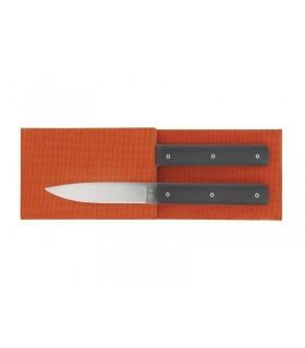 Perceval 94702.ga Coffret 2 couteaux table Perceval « 9.47 », manche polyacétal gris anthracite, lame 10 cm acier 14C28N