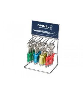 Opinel 92278 Présentoir 36 porte clés 4,5 cm bois charme cyan, anis, orange, vert priarie
