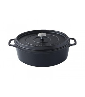 Invicta 40329.n cocotte ovale dimensions hors-tout 370x235x155 mm