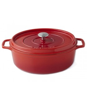 Invicta 40335.r cocotte ovale dimensions hors-tout 435x280x180 mm