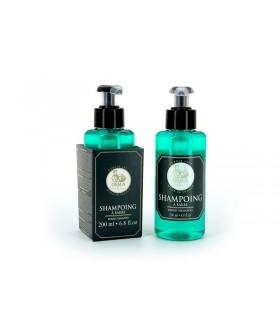 Osma 8041 Flacon poussoir plastique 200 ml, shampoing à barbe.