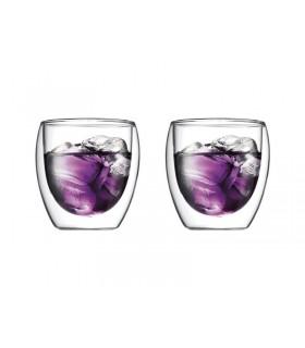 Bodum 4558.10 set de 2 verres double 25 cl paroi pavina transparent
